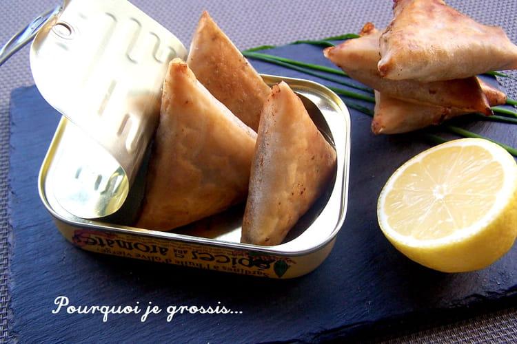 Samoussas aux sardines, saveur coriandre et ciboulette