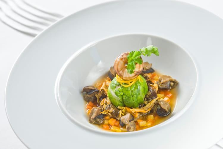 Pot-au-feu d'escargots aux champignons sauvage