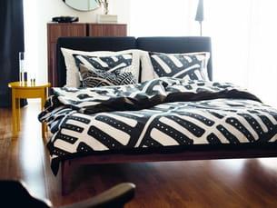 cadre de lit et coussins de tête de lit stockholm d'ikea