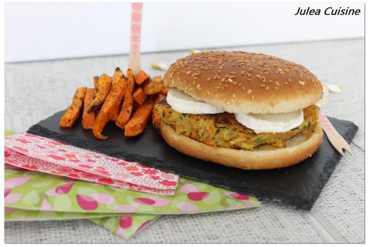 recette de burger galette de pomme de terre carotte et courgette et ch vre. Black Bedroom Furniture Sets. Home Design Ideas