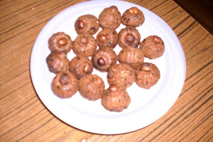 Petits monts au chocolat-noisette