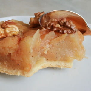tatin pomme-coing aux noix