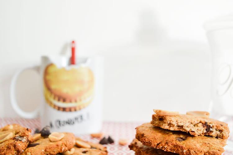Biscuits vegan choco-cacahuètes