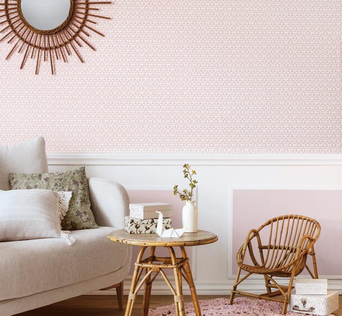 Un papier peint rose