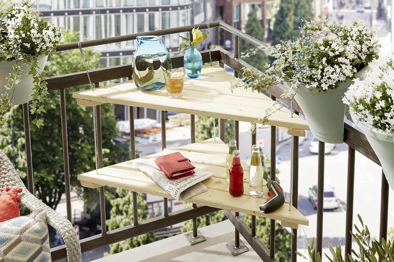 Fabriquer une table suspendue pour le balcon