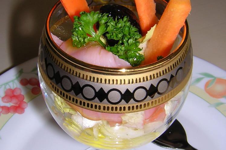 Coupe de crème au Chavignol et saumon