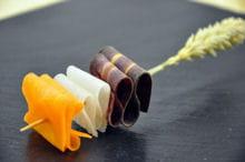 brochette aux légumes oubliés sur pics en épi de blé