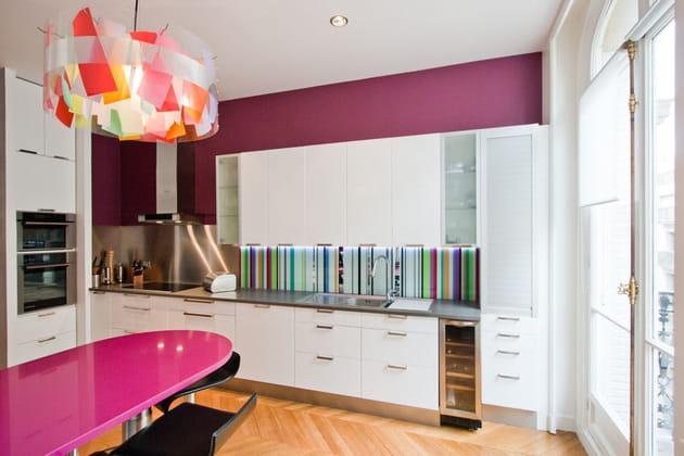 cuisine blanc et prune. Black Bedroom Furniture Sets. Home Design Ideas