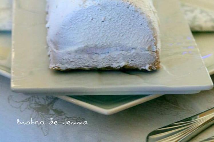 Bûche bavaroise au chocolat au lait insert framboise
