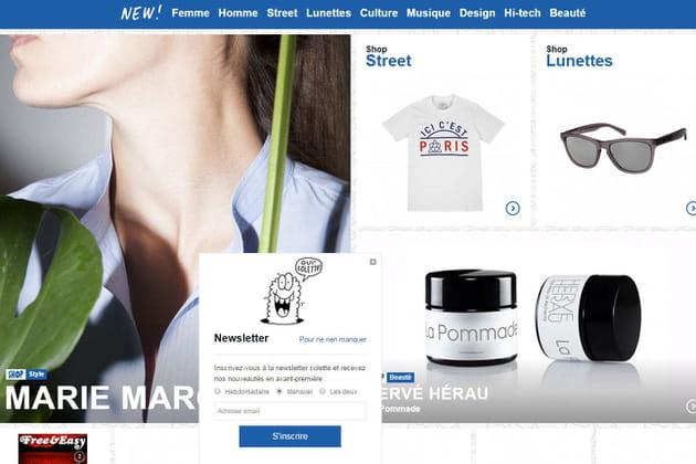 Le e-shop de Colette