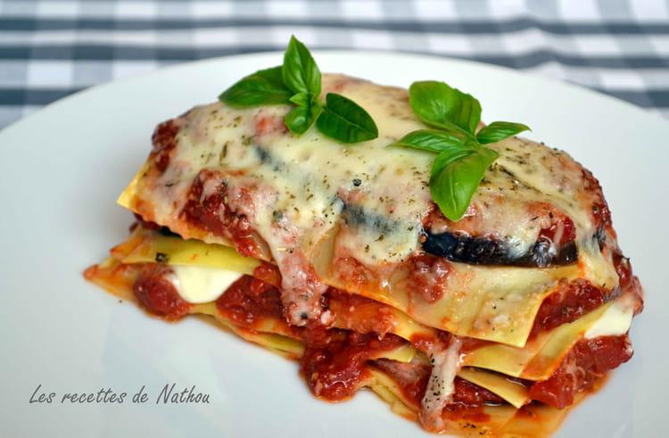 recette de lasagnes aux aubergines et mozzarella la recette facile. Black Bedroom Furniture Sets. Home Design Ideas