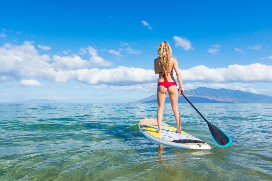Stand-up paddle: parfait pour affiner la silhouette