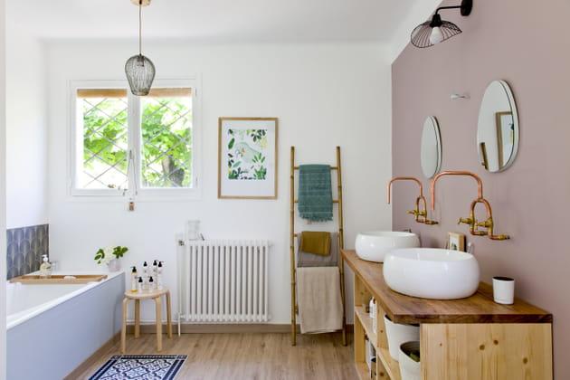 Salle de bains récup'