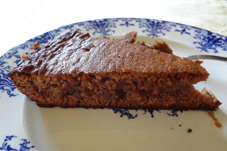 Gateau à la crème de marrons, chocolat et noisettes