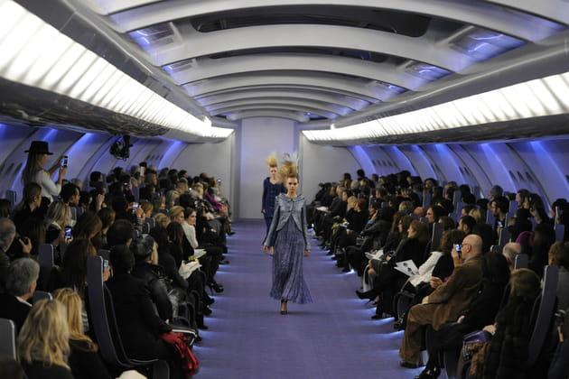 Dans la cabine de l'Airbus Chanel