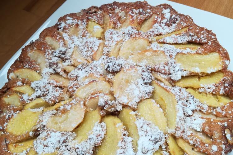 Tarte suisse aux pommes, cannelle et noix