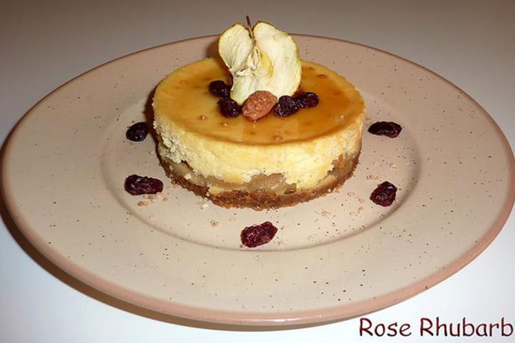Cheesecake aux pommes caramélisées à l'érable