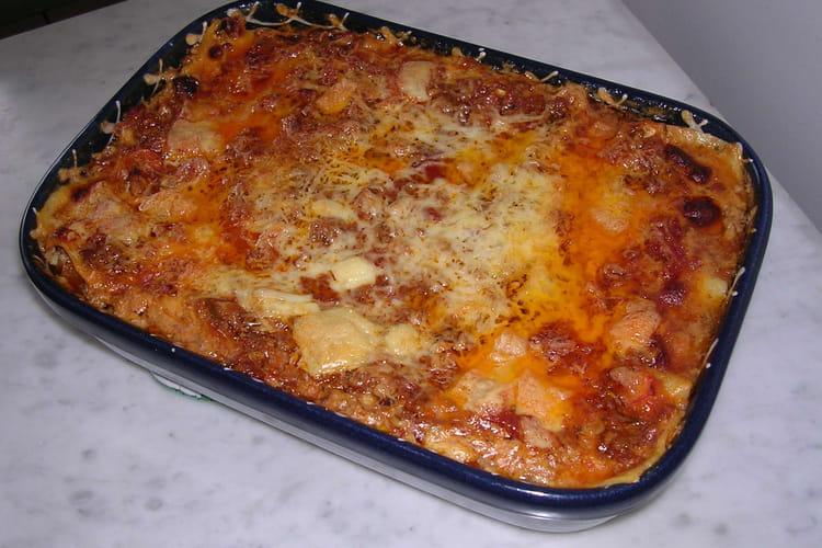Lasagnes à la sauce ragu