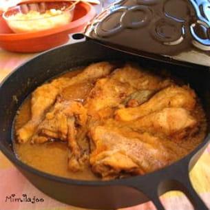 tajine au poulet et oignons confits