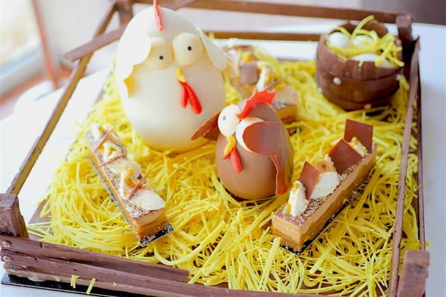 Enclos de Pâques tout chocolat de Valentin Labbé