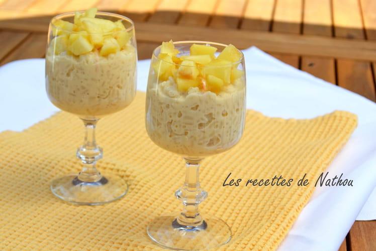 Riz au lait saveur vanille et ses pommes au caramel