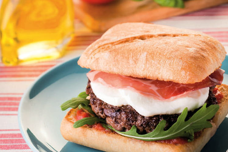 Burger italien mozzarella-coppa
