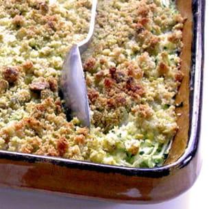 courgettes au crumble de pistaches