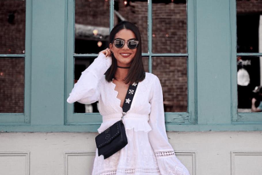 Le look blogueuse de la semaine: Camila Coelho, l'équilibre du noir et blanc