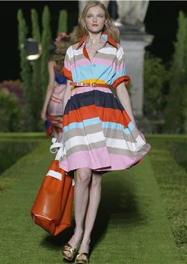 robe rayée de diane von furstenberg