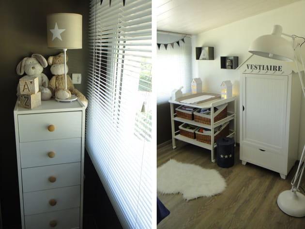 une chambre de b b la d co n o industrielle. Black Bedroom Furniture Sets. Home Design Ideas