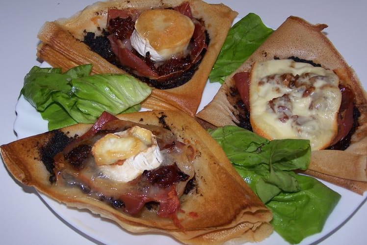 Tarte croustillante au jambon sec et au fromage