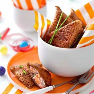 galette au blé noir, saumon et oseille façon samoussa