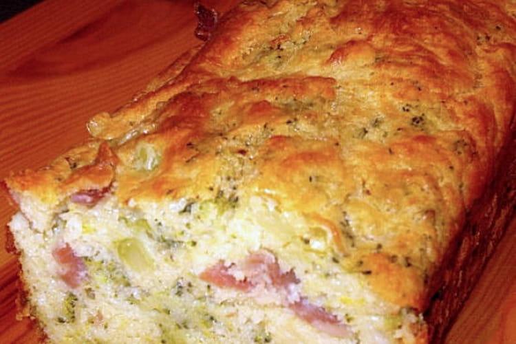 Cake brocoli et jambon cru