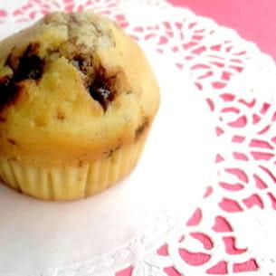 muffins aux noix et chocolat au lait et caramel