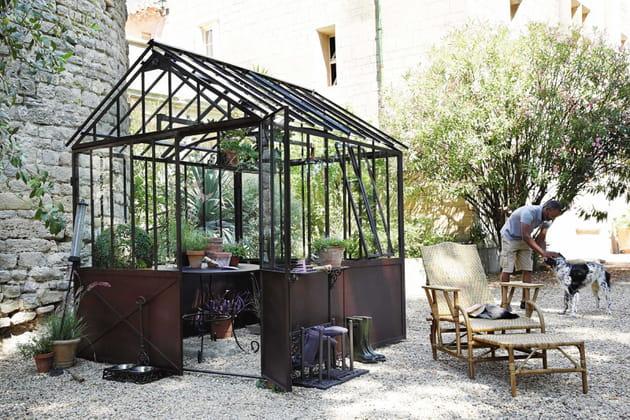 abri de jardin serre tuileries par maisons du monde. Black Bedroom Furniture Sets. Home Design Ideas
