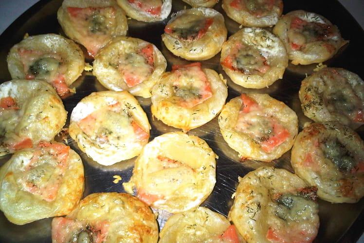 Tartelettes au saumon fumé
