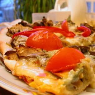 pizza aux aubergines