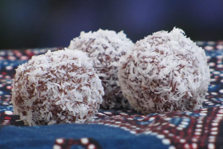 Truffe coco-noisette aux deux chocolats