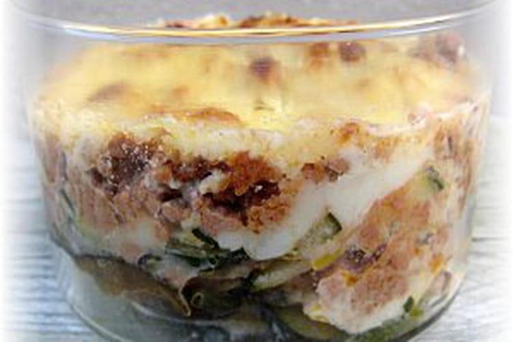 Moussaka aux aubergines et courgettes