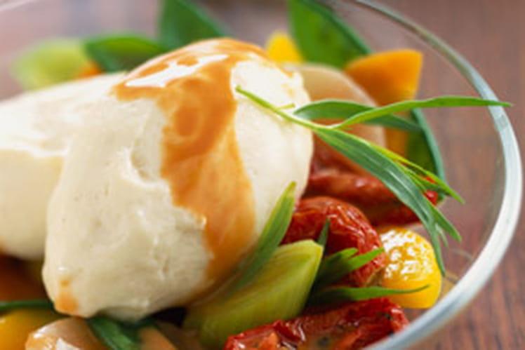Quenelles de brochet aux légumes