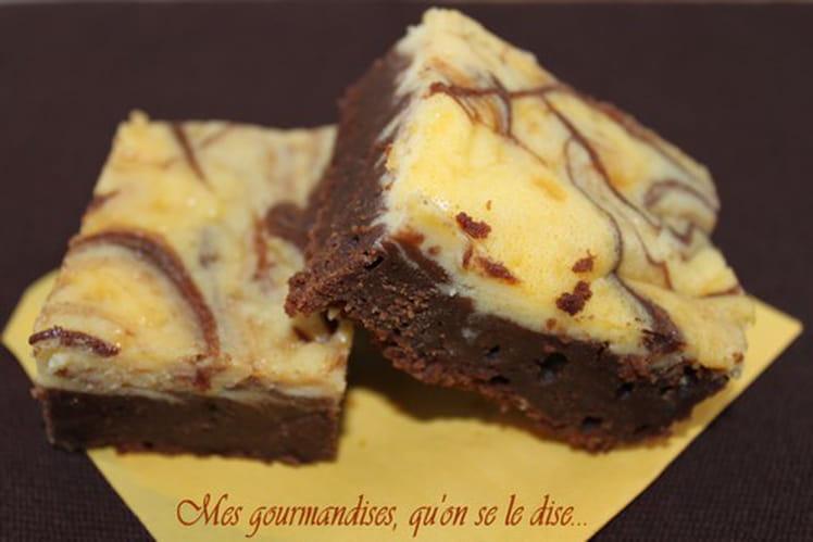 Brownies marbrés aux 2 chocolats et mascarpone