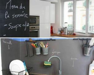 la peinture ardoise convient parfaitement à la cuisine