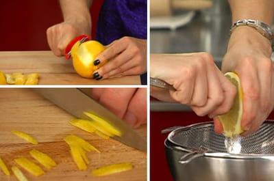 zester et presser le citron.