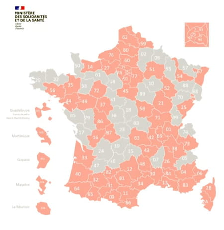 carte france covid zone alerte rose