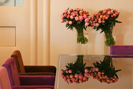 Reflets de fleurs fraîches