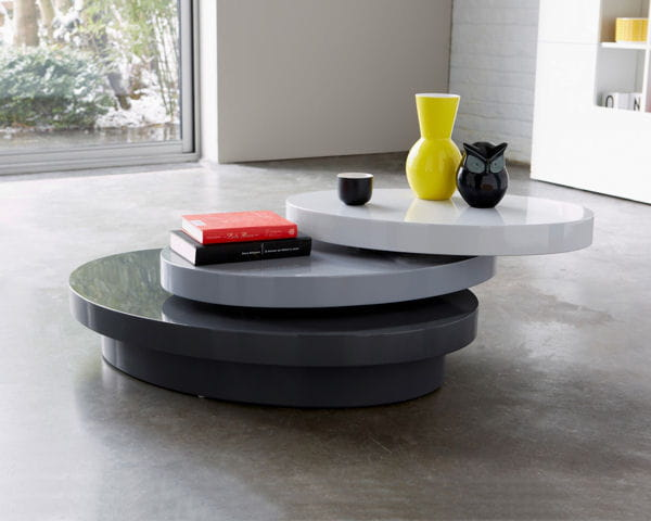 Table basse plateaux pivotant de 3 suisses - Table basse pivotant ...