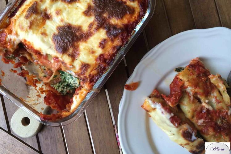 Cannelloni épinards-ricotta