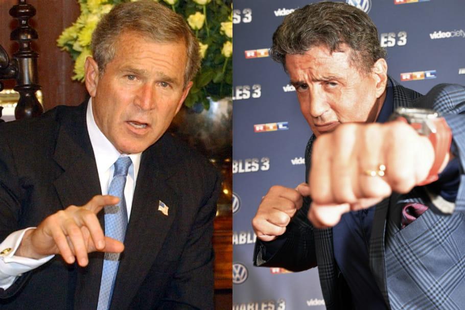 George W. Bush VS Sylvester Stallone: 71ans, un combat