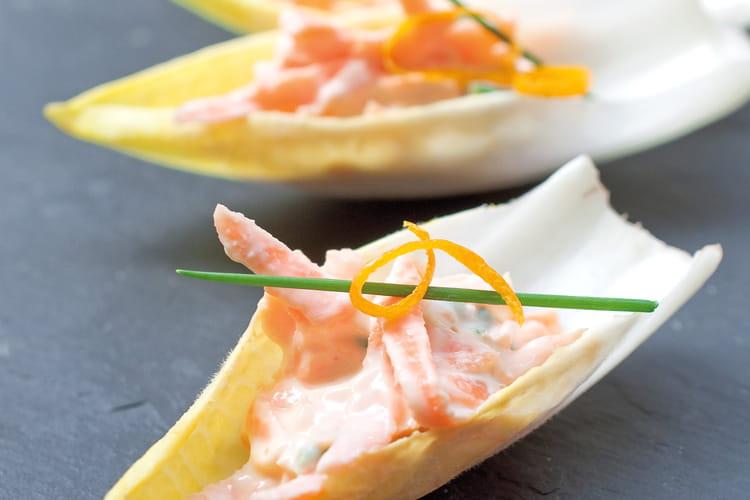 Barquette d'endive et carottes