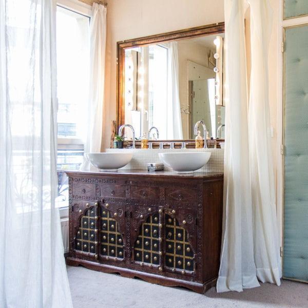 Bien-aimé 20 meubles vasque récup' pour la salle de bains JX36